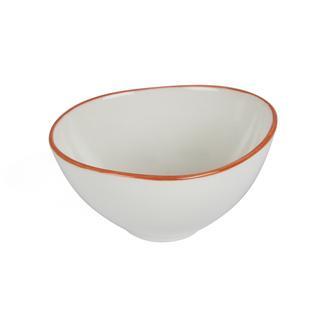 Tulu Porselen Pol10 Kase-Turuncu/10 cm