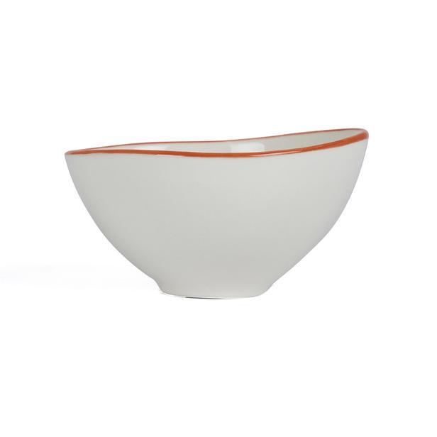 Tulu Porselen Kase - Turuncu - 10 cm