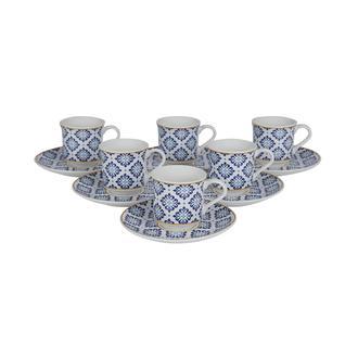 Tulu Porselen Ege Etnik 12 Parça  Kahve Fincanı