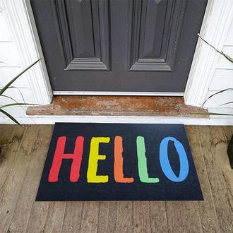 Giz Home Peppina Renkli Hello Kapı Önü Paspası Paspası 40x60 cm