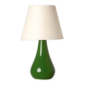Nisa Luce Damla büyük abajur seramik - Yeşil / Beyaz