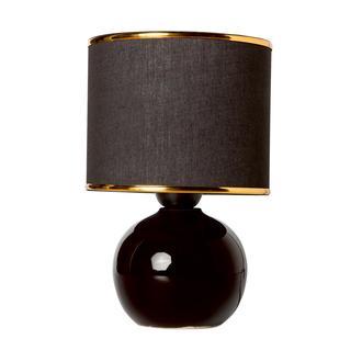 Nisa Luce 12 lik top abajur Küçük seramik - Siyah Biyeli