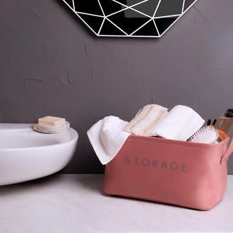Simple Living Çok Amaçlı Dikdörtgen Sepet - Pudra - 21x30x18 cm