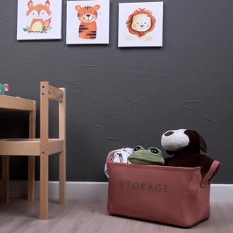 Simple Living Çok Amaçlı Dikdörtgen Sepet - Pudra - 21x36x18cm