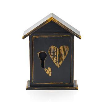 Orta Sofa Gold Kalp Ev Anahtar Kutusu