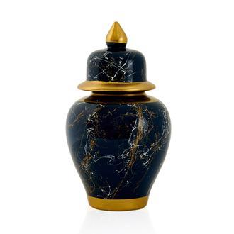 Sera Bianco Şah Küp Gece Mavisi 24x13cm