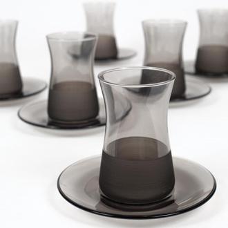 Rakle Matte 12 Parça Çay Seti - Füme/132 ml
