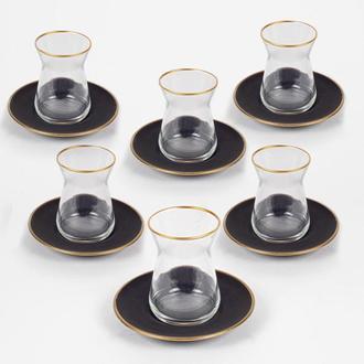 Rakle Black 12 Parça Çay Seti -132 ml