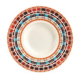 Tulu Porselen  Turuncu Çay Tabağı-13 cm