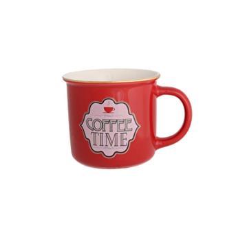 Porland Cheerful Caffee Time Kupa - Kırmızı/375 ml