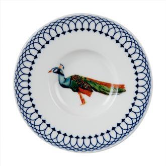 Tulu Porselen  Tavus Kuşu  Çay Tabağı-13 cm