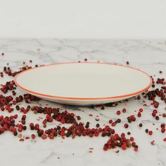 Tulu Porselen Tatlı Tabağı - Turuncu - 15 cm