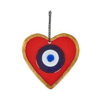 Q-Art Kırmıızı Kalp Nazarlık - 12 cm