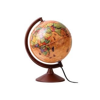 SVS Işıklı Küre Masa Lambası - Antik - 20 cm