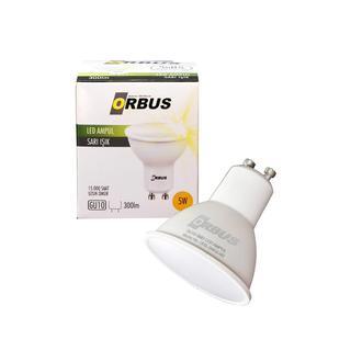 Orbus Gu10 Çanak 5Watt Led Sarı Işık (3000K) Spot Ampul