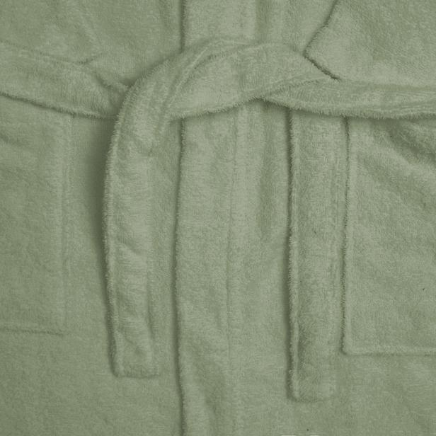 Nuvomon Kadın Kimono Bornoz - Yeşil - S / M