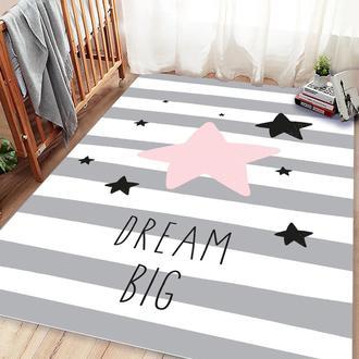Missia Home Dream Big Pembe Yıldız Cocuk Halısı - 80x150 cm
