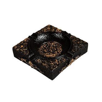 Burleart Yapraklı Kül Tablası - Siyah - 11 cm