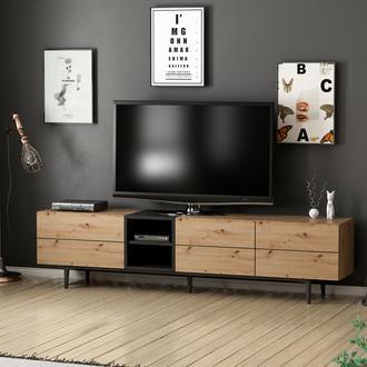 Minar Vesta Tv Ünitesi - Artisan / Siyah