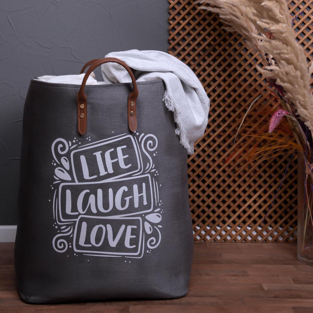 Simple Living Büzgülü Çok Amaçlı Çamaşır Sepeti - Antrasit - 60 lt