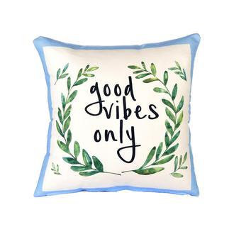 Missia Home Good Vibes Only Sloganlı Kırlent Kılıfı - 43x43 cm