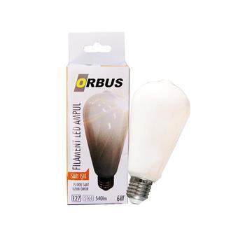 Orbus St64 6W Filament Bulb Opak E27 540Lm 2700 K Sarı Işık Ampul