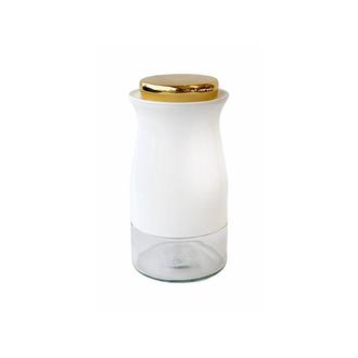 Sembol Silindir Kavanoz Baharatlık - Beyaz - 16 cm