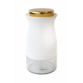 Sembol Silindir Kavanoz Baharatlık - Beyaz - 20 cm