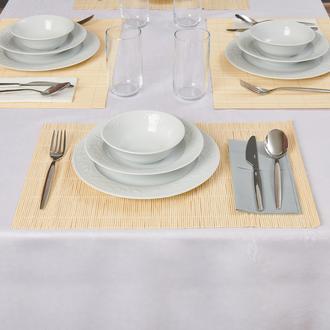 Excellent Houseware 4'lü Bambu Amerikan Servis - Bej