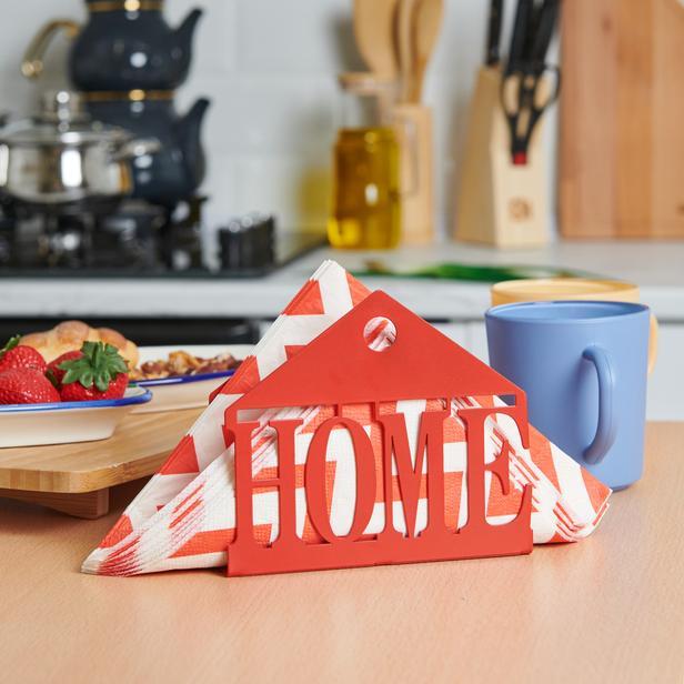 M&C Concept Home Metal Peçetelik - Kırmızı