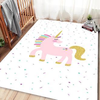 Missia Home Unicorn Desen Çocuk Halısı - Pembe Gold - 120x170 cm