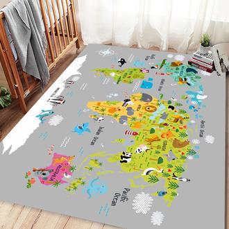Missia Home Küçük Maceracı Çocuk Halısı - Gri Zemin - 120x170 cm