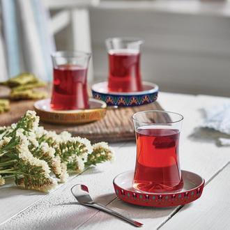 Koleksiyon İstanbul Tiryaki Roma 12 Parça Çay Seti