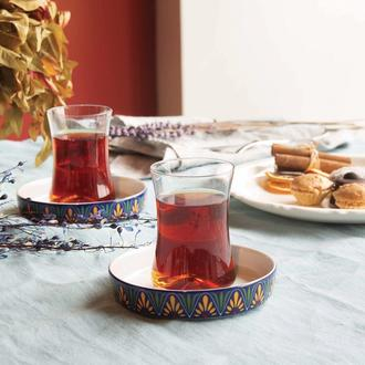 Koleksiyon İstanbul Tiryaki Helen 12 Parça Çay Seti