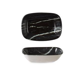 İpek Valencia Kayık Tabak - Siyah - 12 cm