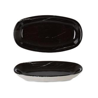 İpek Valencia Kayık Tabak - Siyah - 16 cm