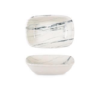 İpek Valencia Kayık Tabak - Beyaz - 12 cm