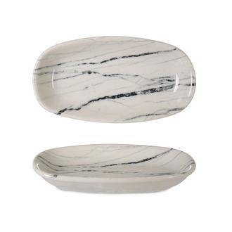 İpek Valencia Kayık Tabak - Beyaz - 16 cm