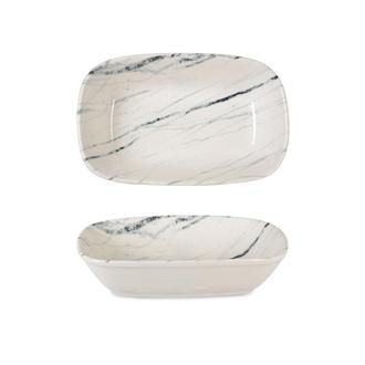 İpek Valencia Kayık Tabak - Beyaz - 18 cm