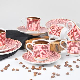Tulu Porselen Semazen 12 Parça Kahve Fincanı
