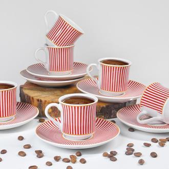 Tulu Porselen Sema 12 Parça Kahve Fincanı