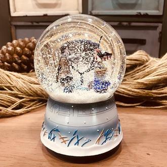 Q-Art Kış Masalı Müzikli Kar Küresi - Beyaz
