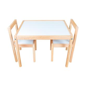 Bemi Montessori Çoçuk Çalışma Masası Takımı - Naturel