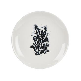 Tulu Porselen Pisi Tatlı Tabağı - 19 cm