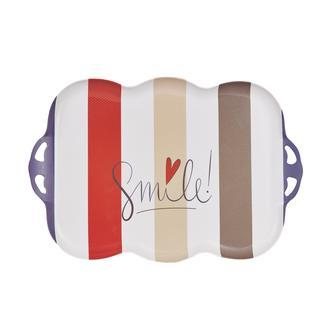 Evabella Smile Dalgalı Kaydırmaz Tepsi - 30x43 cm