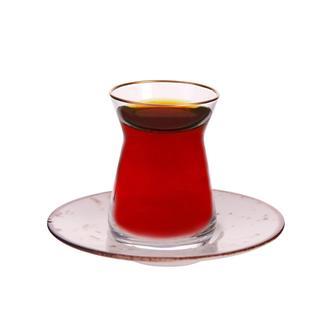 Tulu Porselen Heybeli Çay Tabağı - Krem - 13 cm