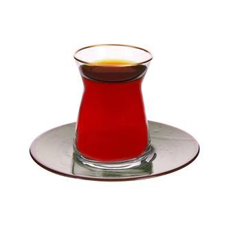 Tulu Porselen Heybeli Çay Tabağı - Yeşil - 13 cm