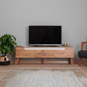 Just Home Carpi TV Ünitesi - Beyaz/Atlantik Çam