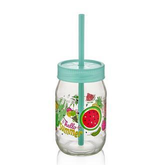Qlux Spring Pipetli Bardak - Asorti / 370 ml