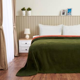 Nuvomon Çift Taraflı Pamuklu Çift Kişilik Battaniye - Yeşil - 180x220 cm